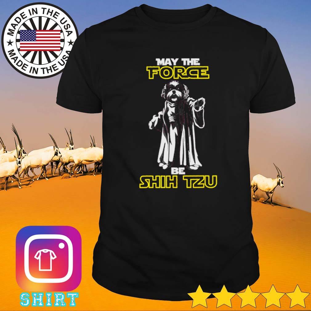 Star Wars may the force be Shih Tzu shirt