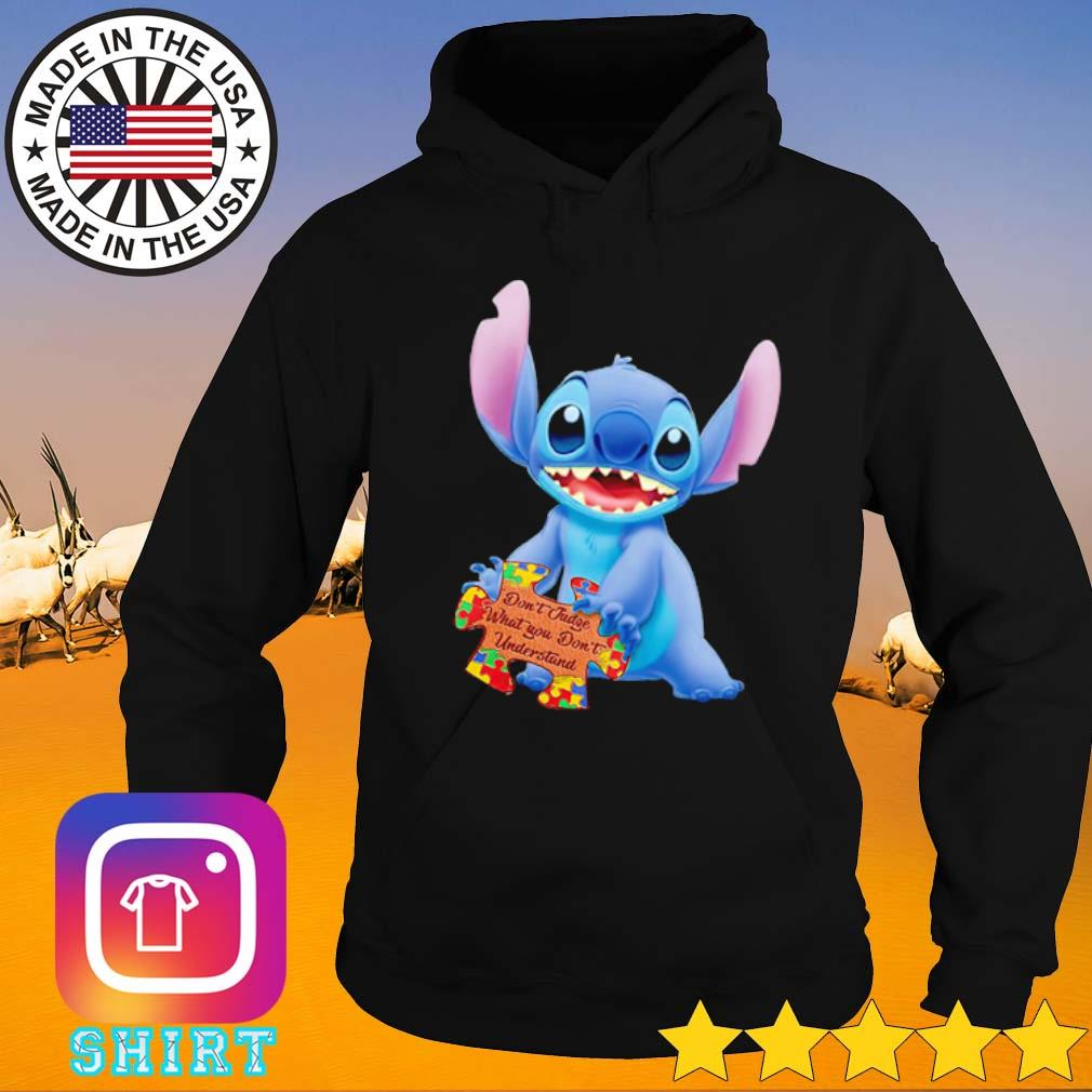 Stitch hold Autism Awareness don't judge what you don't understand s Hoodie black