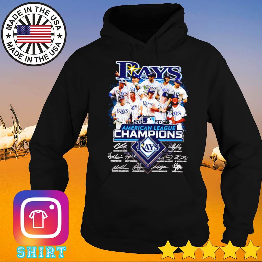 Tampa Bay Rays 2020 American league Champions signatures s Hoodie