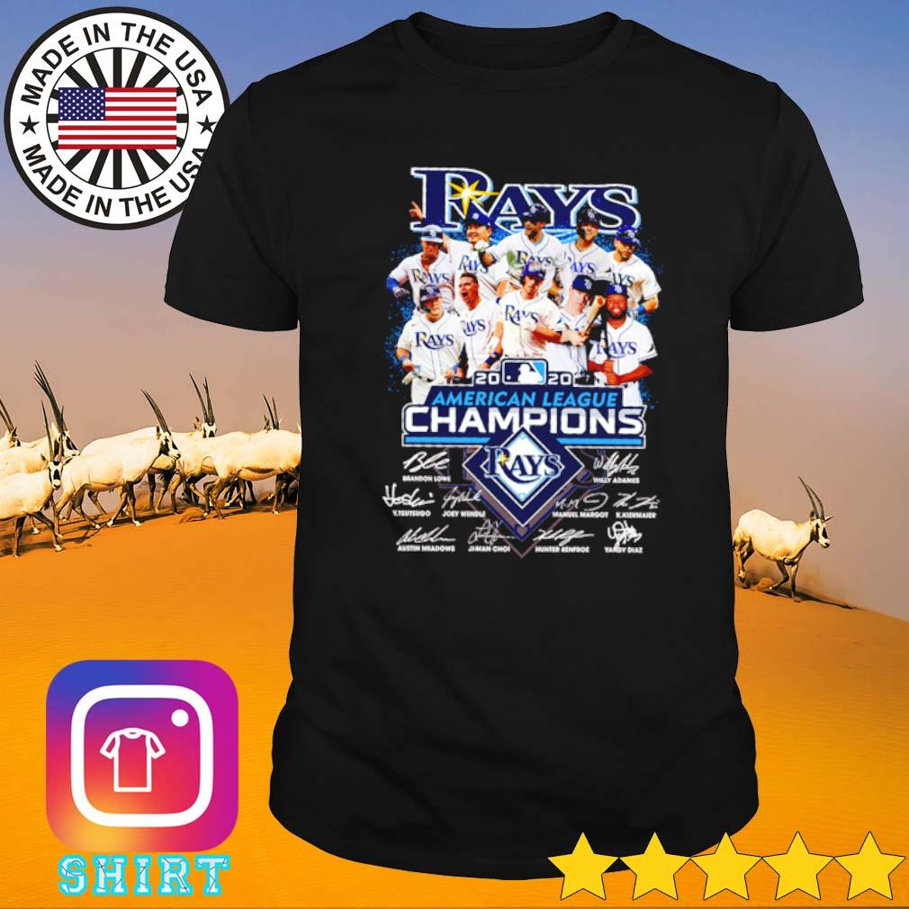 Tampa Bay Rays 2020 American league Champions signatures shirt