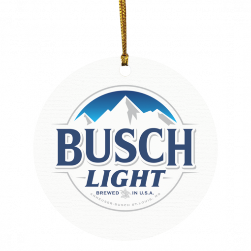 Busch Light brewed in USA Christmas circle ornament