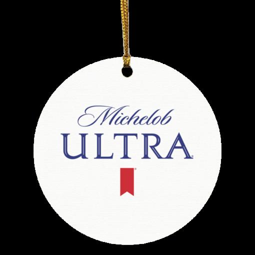 Michelob Ultra Christmas circle ornament