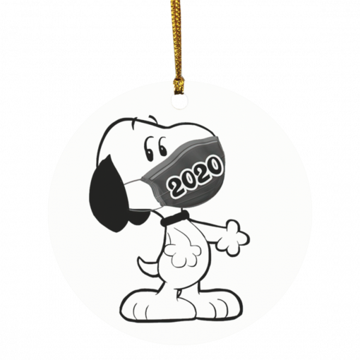 Snoopy Clause with mask 2020 Christmas ornament