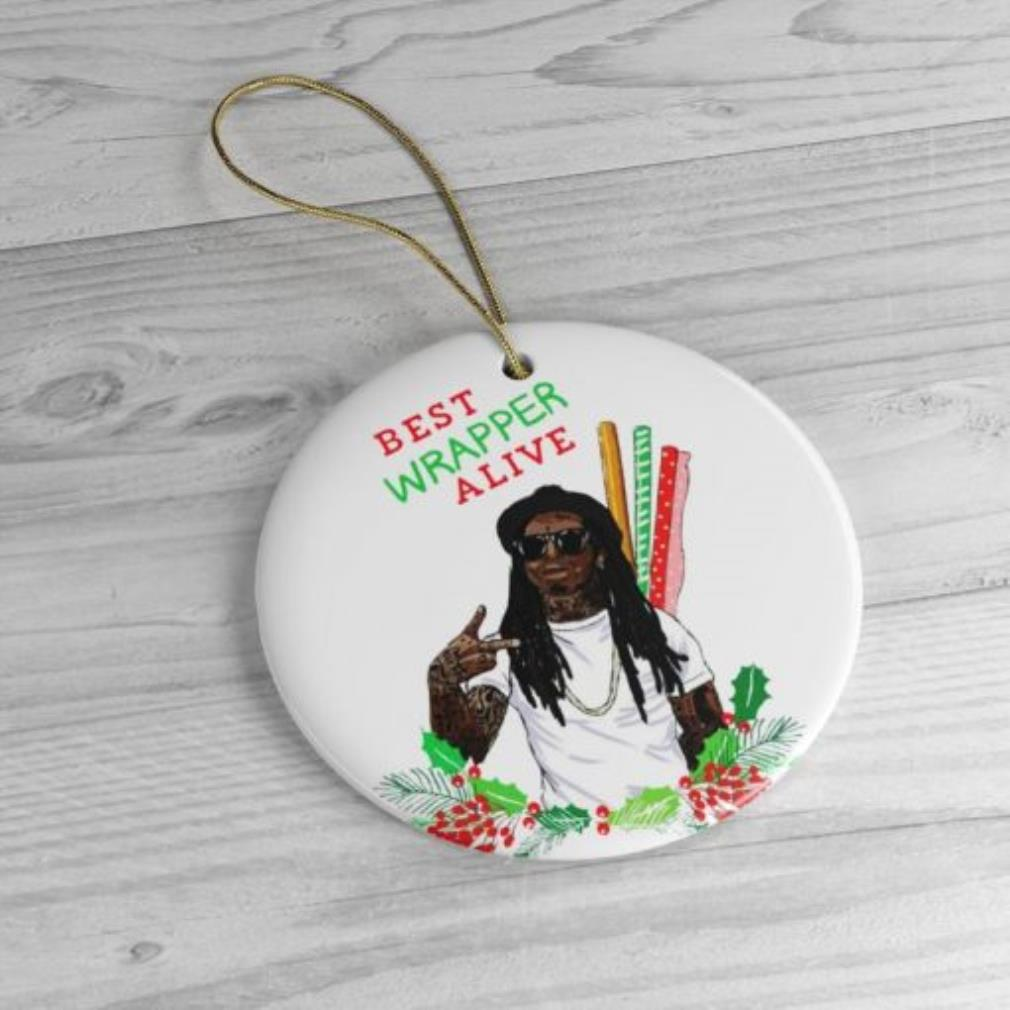Best wrapper alive Christmas circle ornament