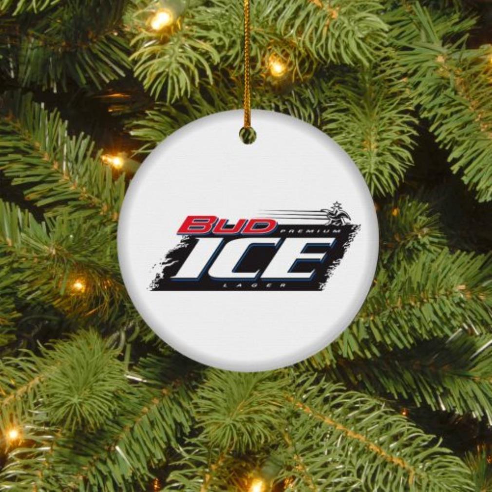 Bud Ice Christmas circle ornament
