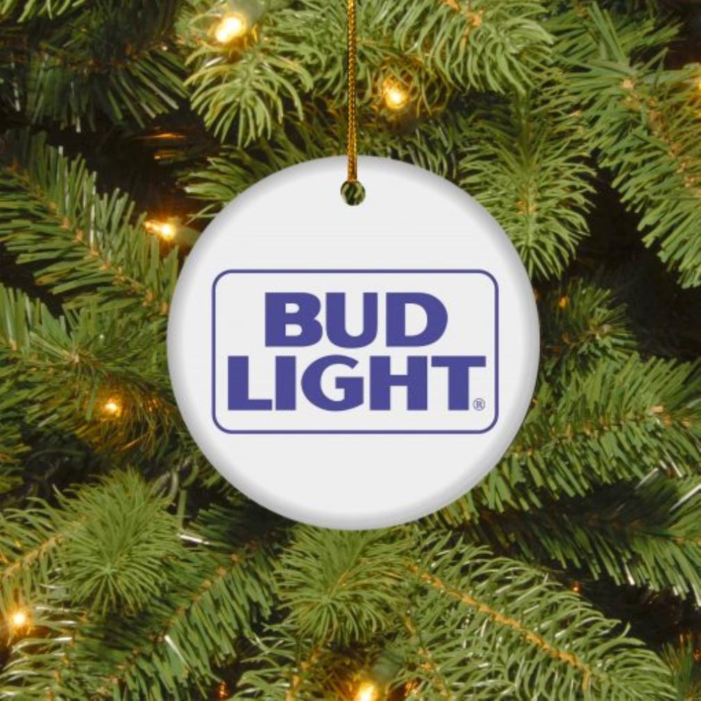Bud Light Christmas circle ornament