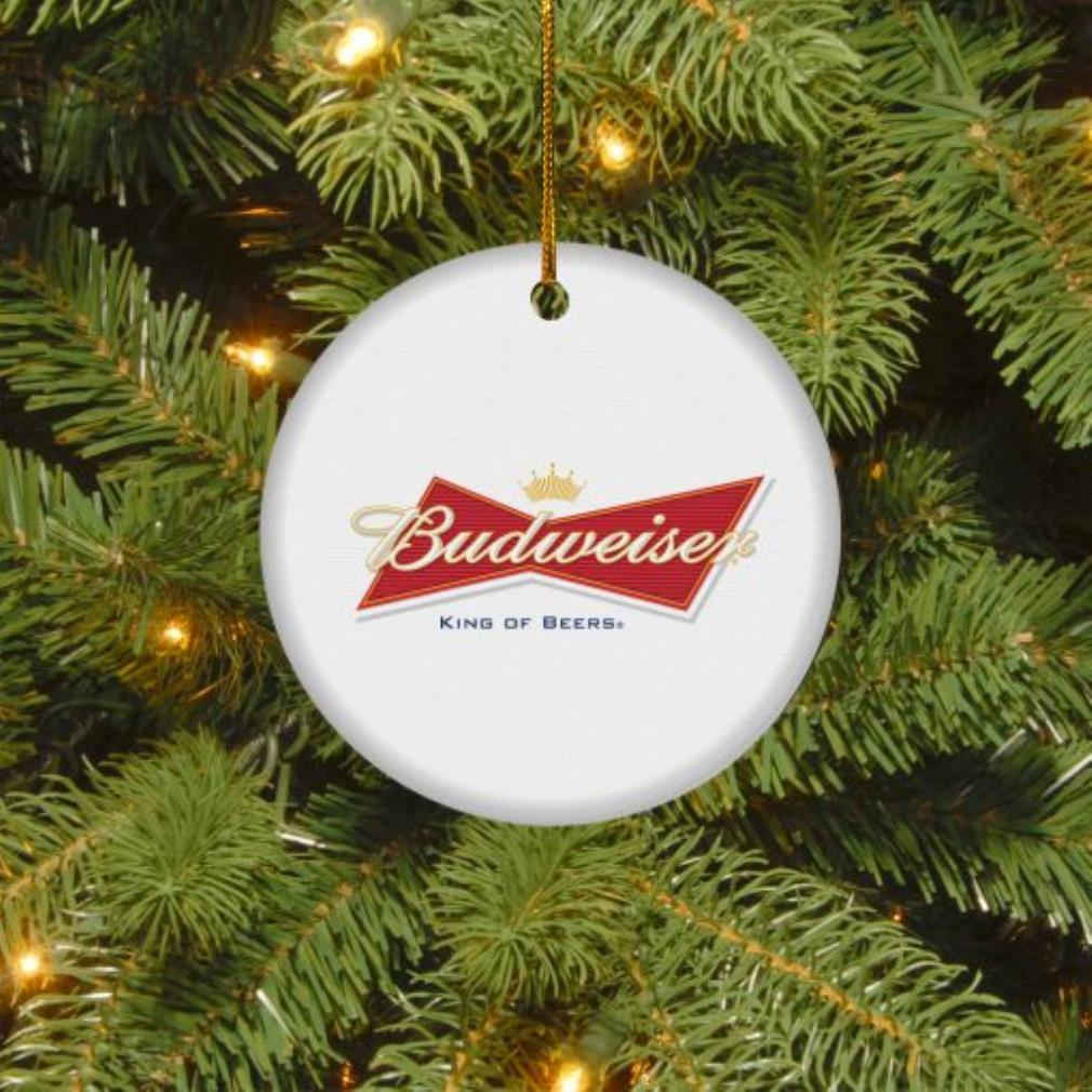 Budweiser King of beers Christmas circle ornament