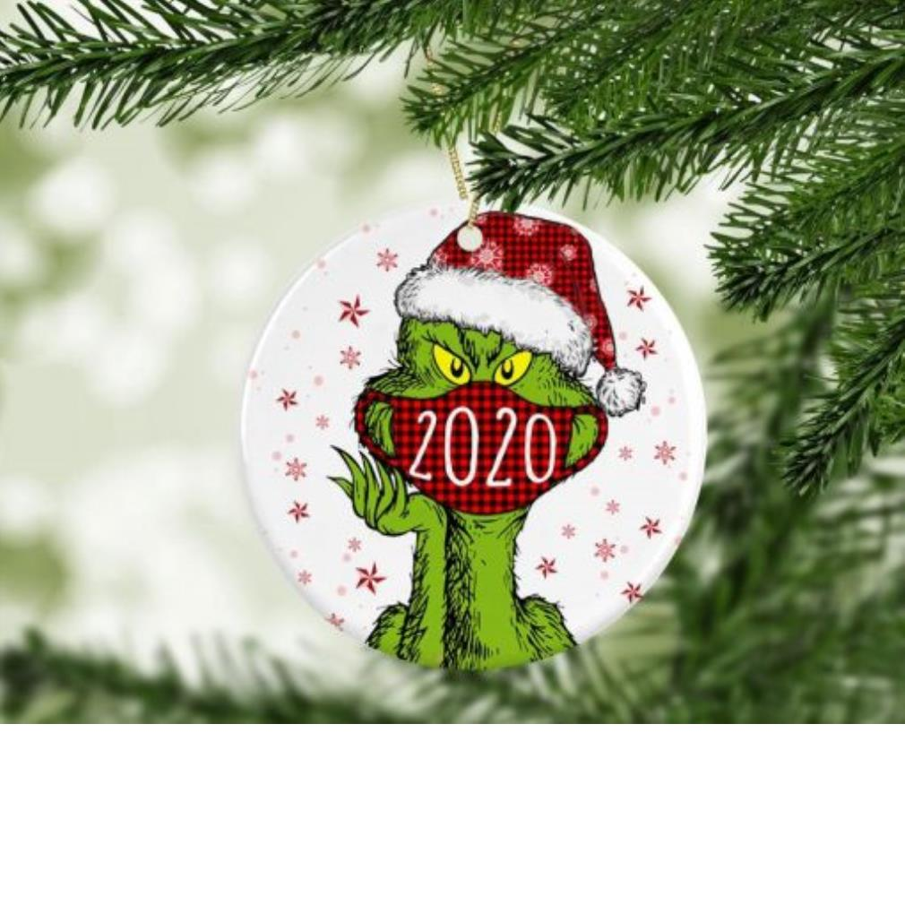 Christmas Grinch Santa face mask 2020 quarantine ornament