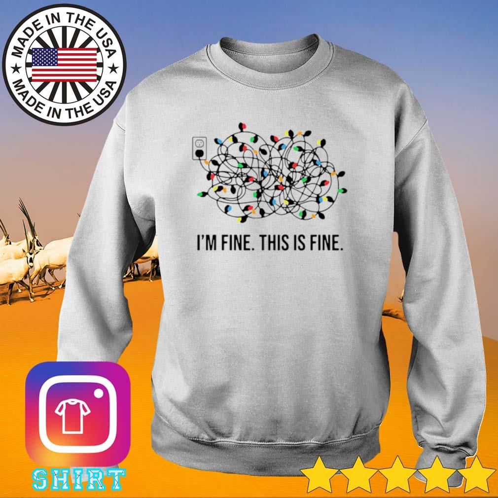 Christmas light I'm fine this is fine sweater