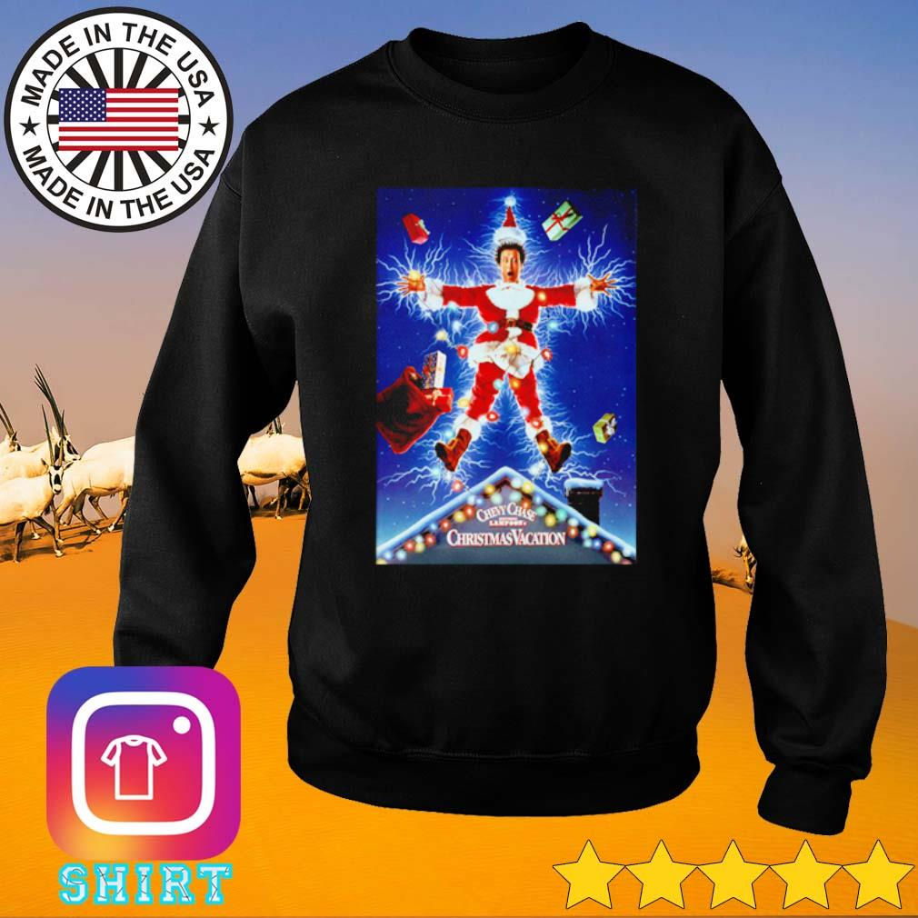 Christmas Vacation chevy chase lights rlectrocution national Lampoon sweater