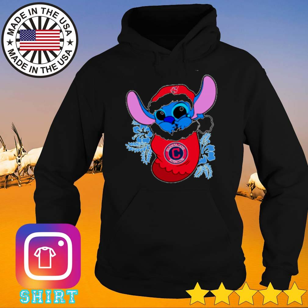 Cleveland Indians Christmas Stitch Disney in the sock sweater Hoodie