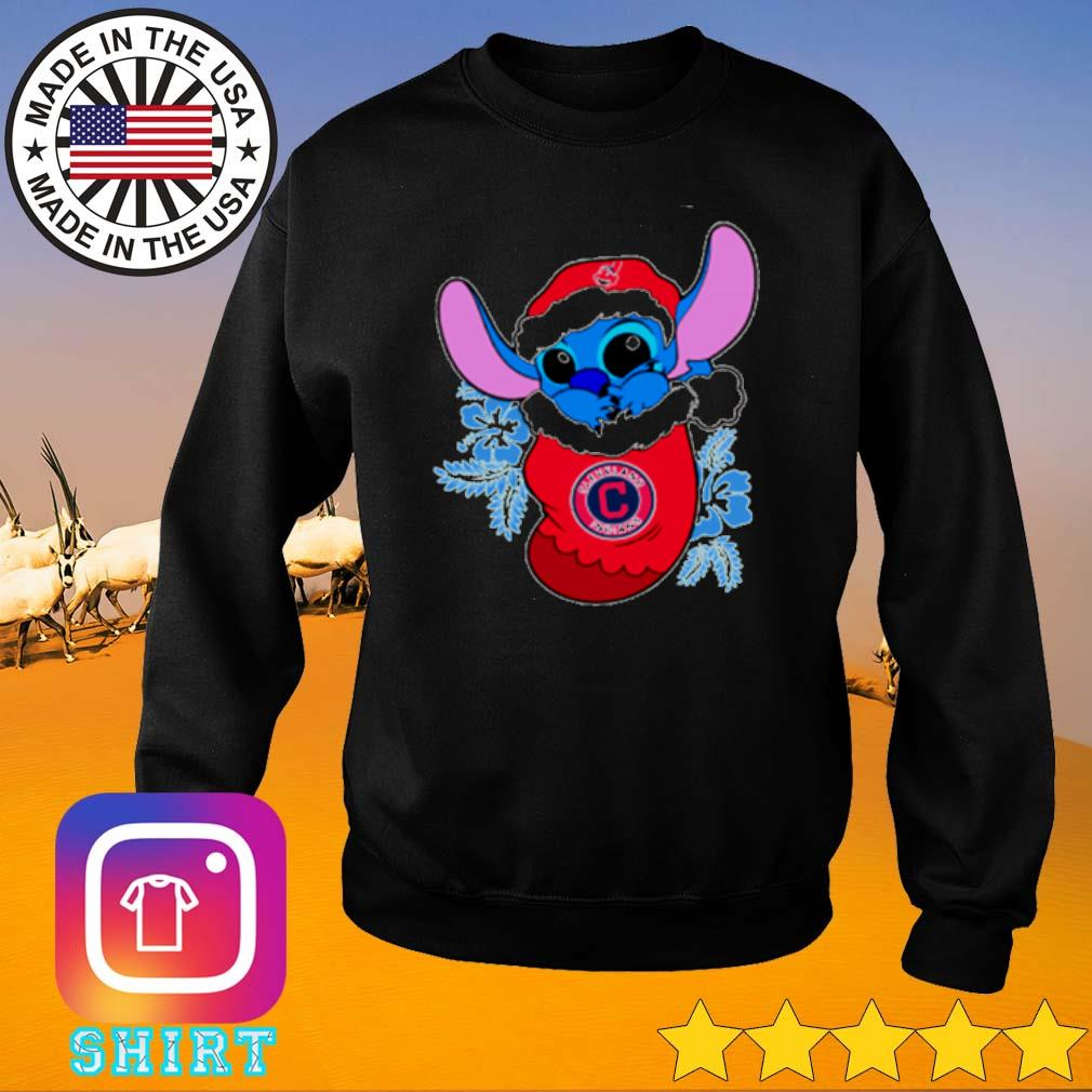 Cleveland Indians Christmas Stitch Disney in the sock sweater