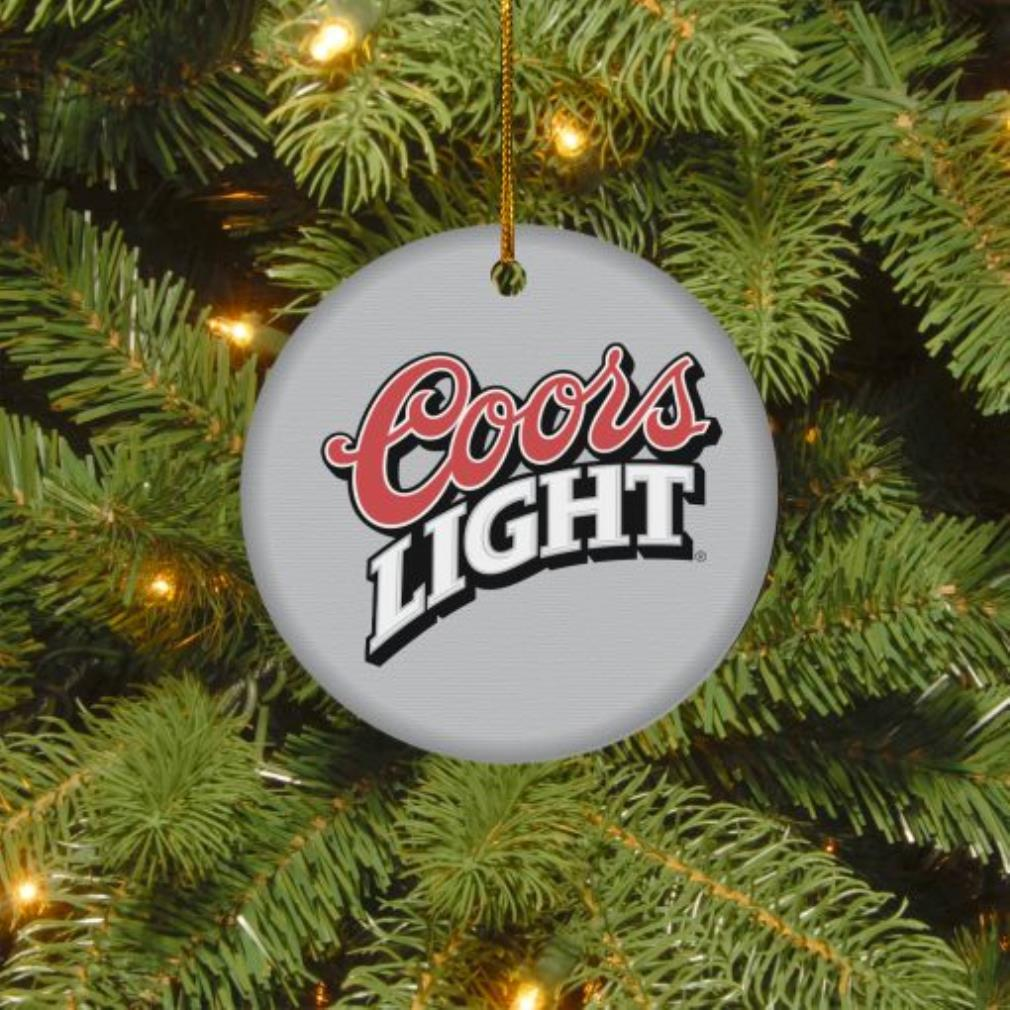 Coors Light Christmas circle ornament