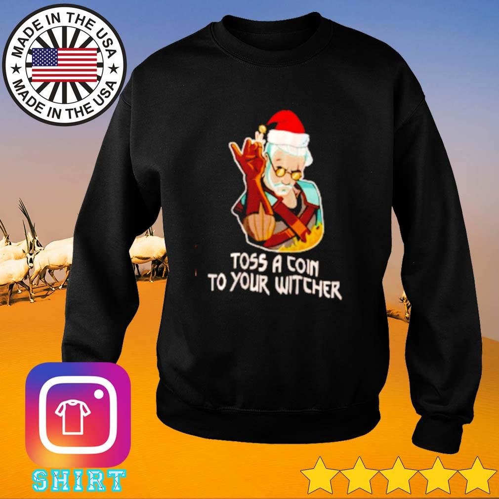 Geralt toss a coin to your witcher Santa hat Christmas sweater