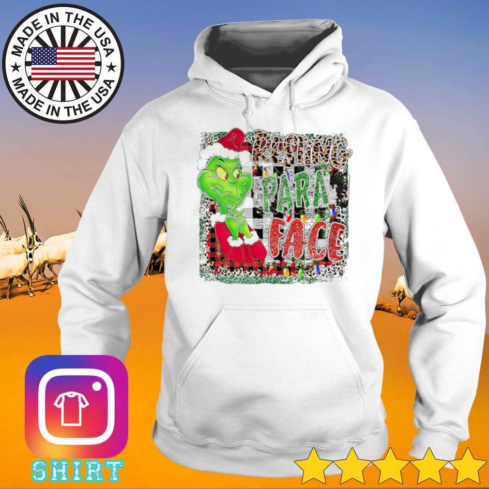 Grinch Santa hat Christmas resting para face sweater Hoodie
