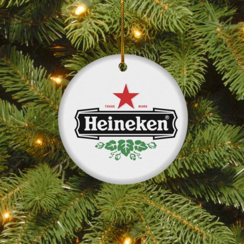 Heineken trade mark Christmas circle ornament