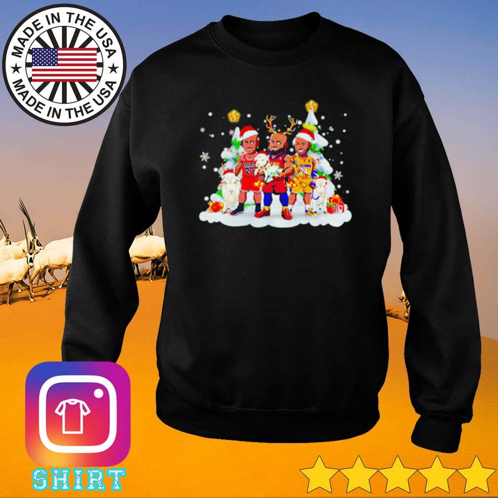 LeBron James Santa reindeer snow gift Christmas sweater