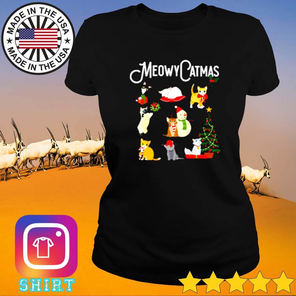 Meowy Catmas Christmas sweater Ladies tee