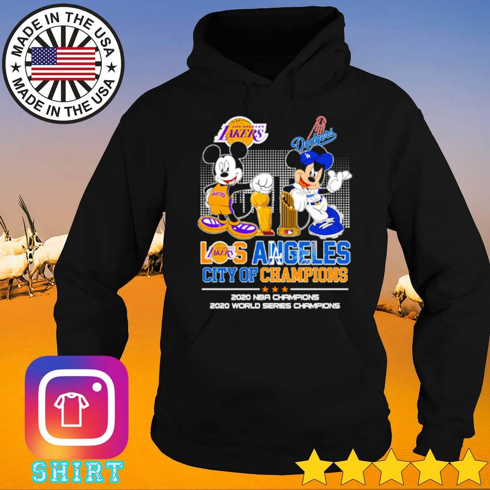 Mickey and Minnie Mouse Los Angeles city of champions 2020 NBA Champions 2020 world series champions s Hoodie