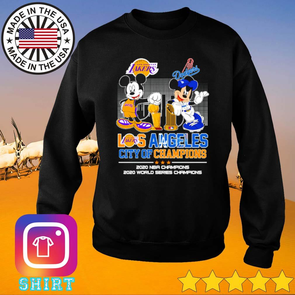 Mickey and Minnie Mouse Los Angeles city of champions 2020 NBA Champions 2020 world series champions s Sweater