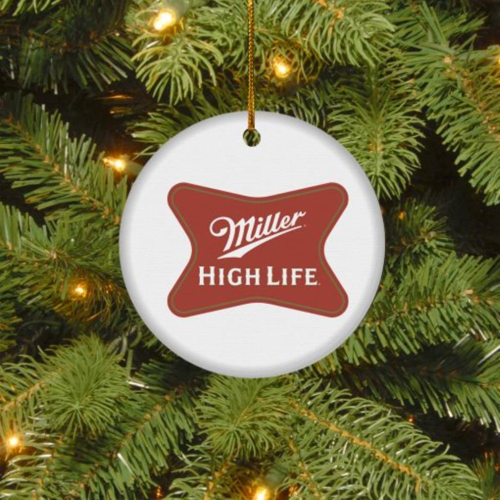 Miller High Life Christmas circle ornament
