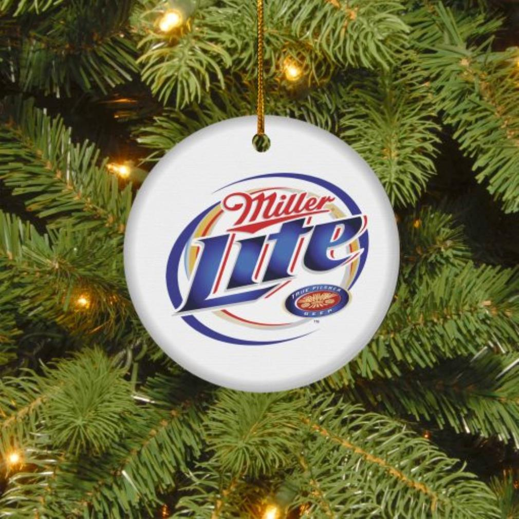 Miller Lite true Pilsner beer Christmas circle ornament