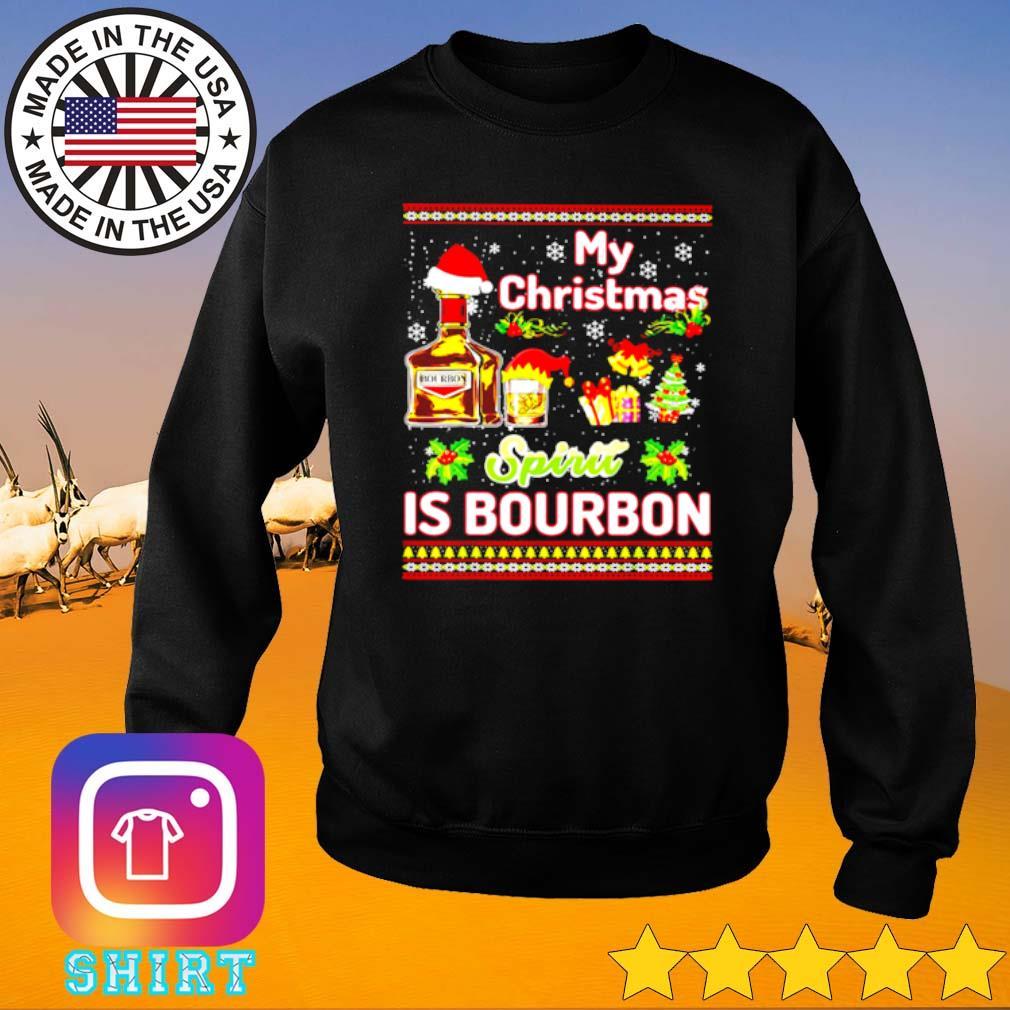 My Christmas spirit is Bourbon ugly Christmas sweater