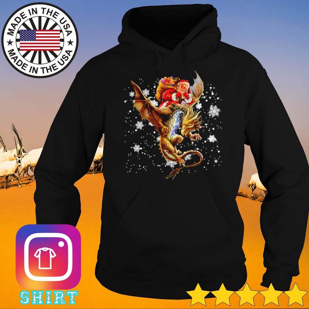 Santa Claus riding dragon Christmas sweater Hoodie