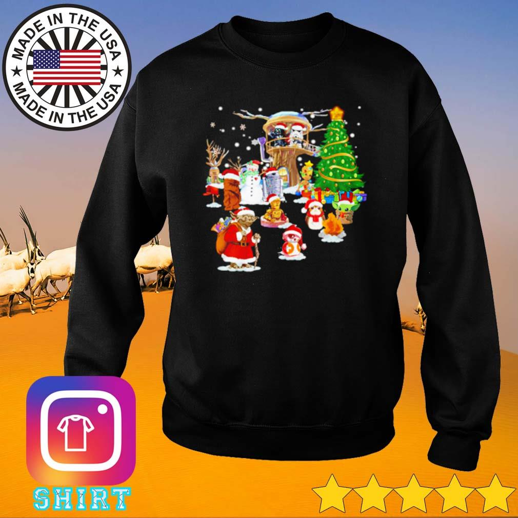 Star Wars characters Santa Christmas sweater