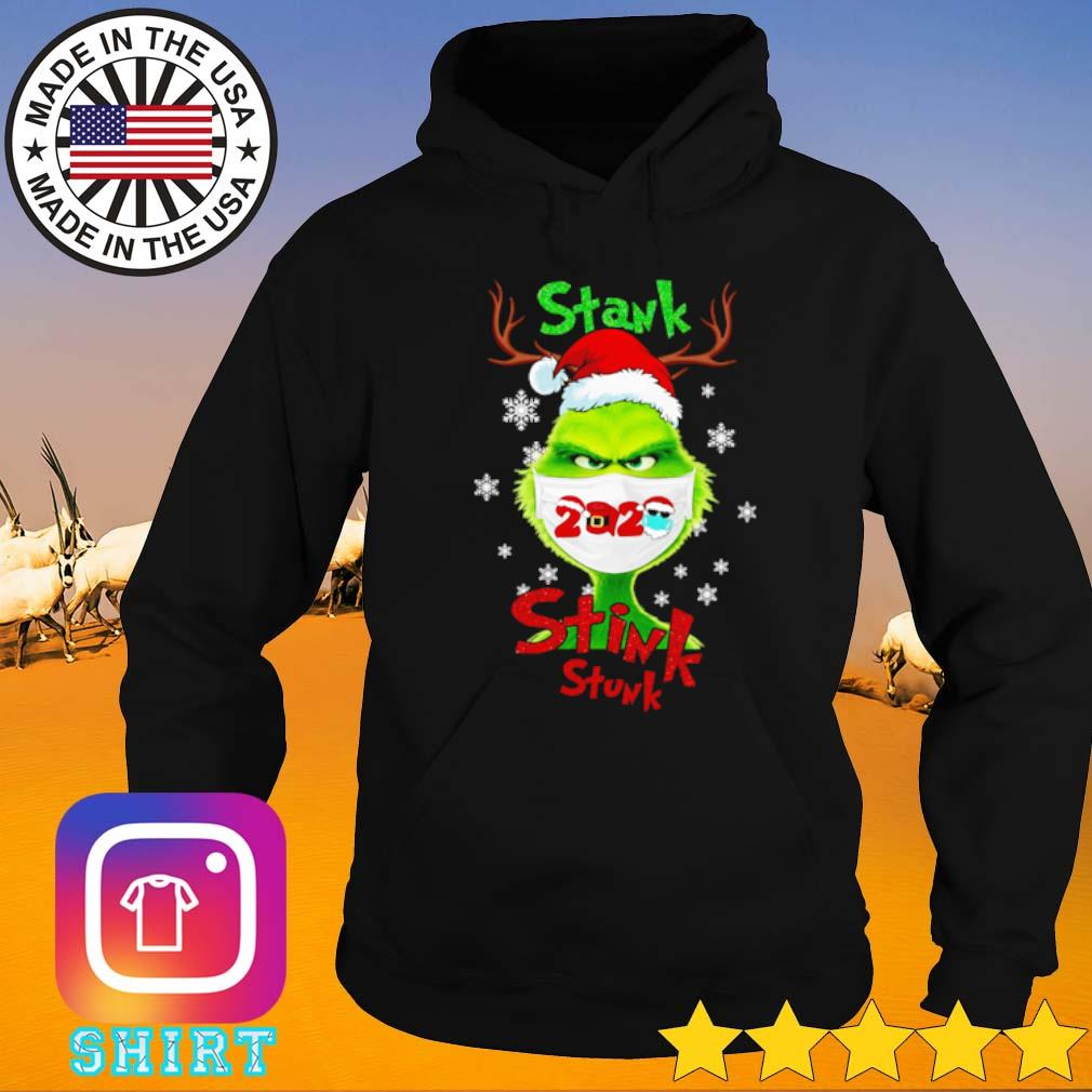 Stink stank stunk Grinch face mask 2020 Santa hat Christmas sweater Hoodie