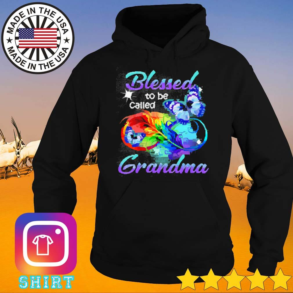Butterfly LGBT blessed to be called grandma s Hoodie