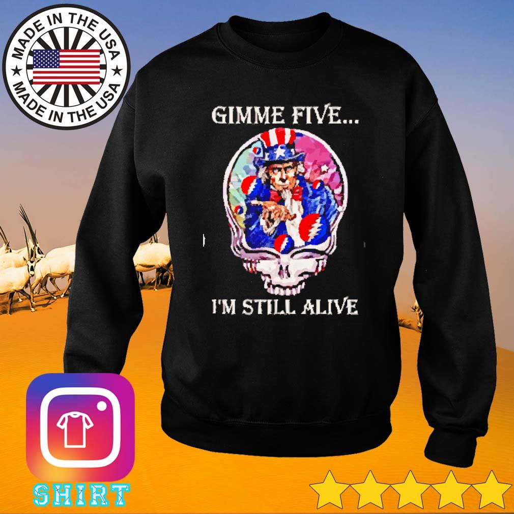 Grateful Dead Steal Your Face Gimme five I'm still alive s Sweater