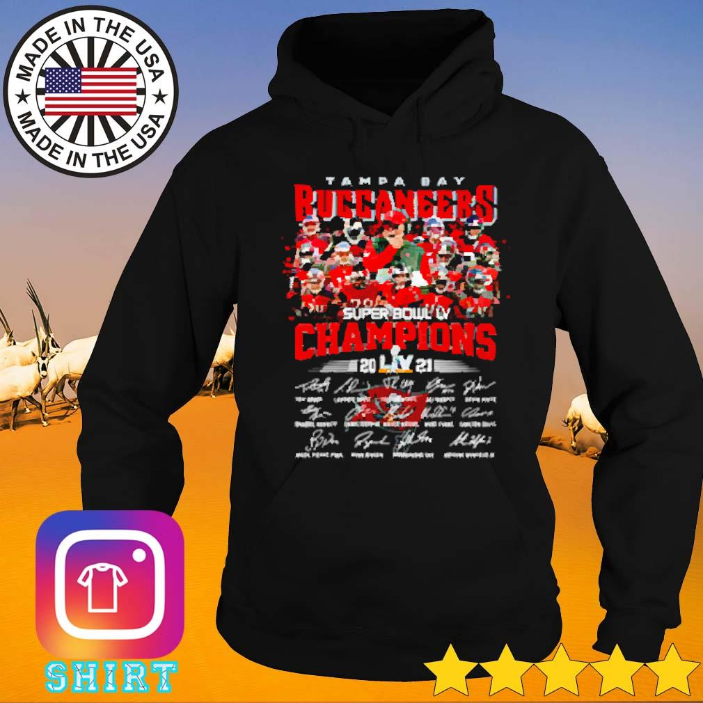 Super bowl LV Tampa Bay Buccaneers football champions 2021 signatures s Hoodie