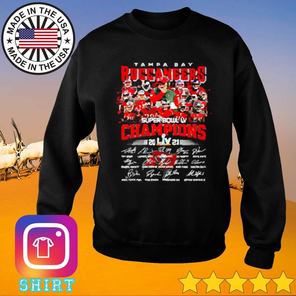 Super bowl LV Tampa Bay Buccaneers football champions 2021 signatures s Sweater