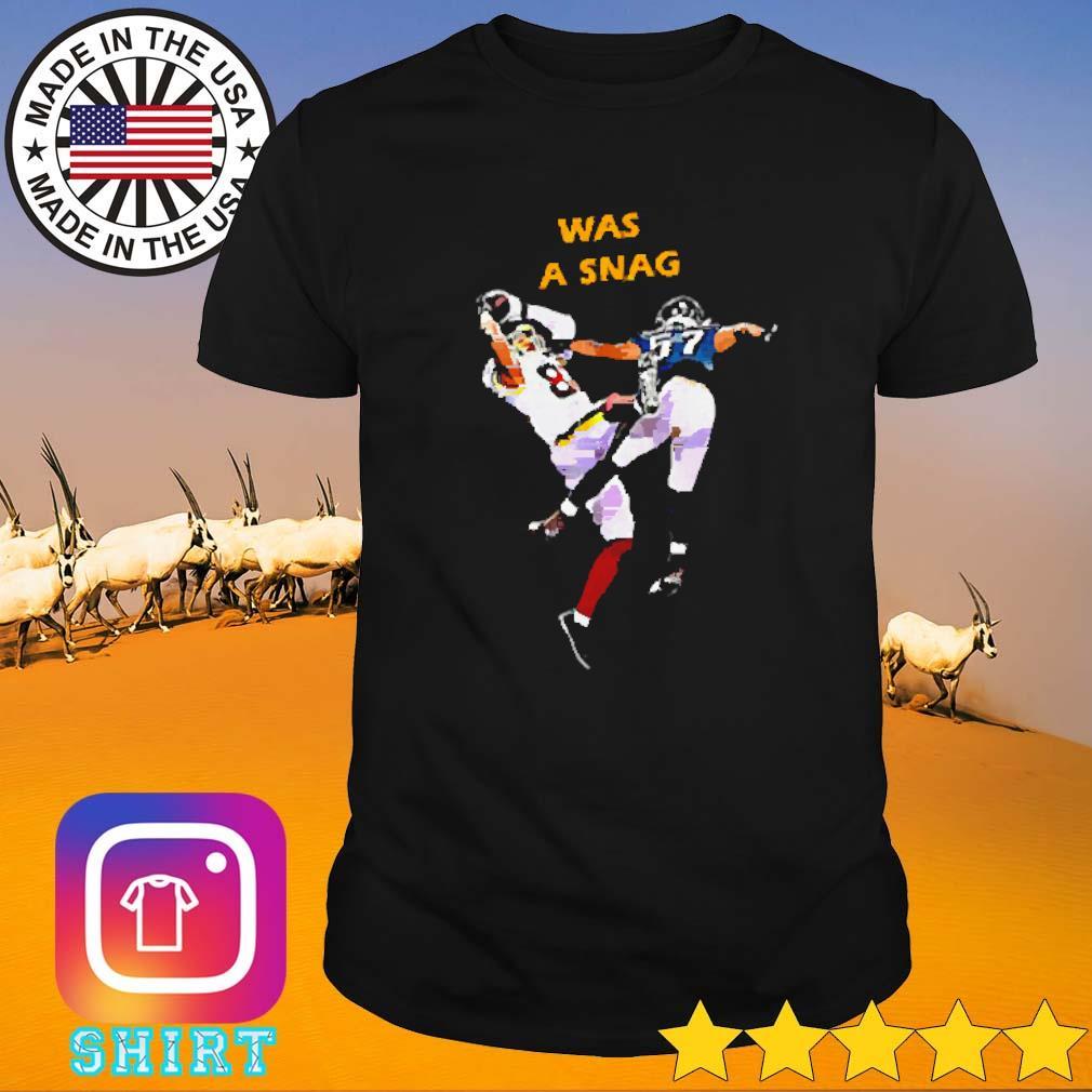 Was a snag Washington football team shirt